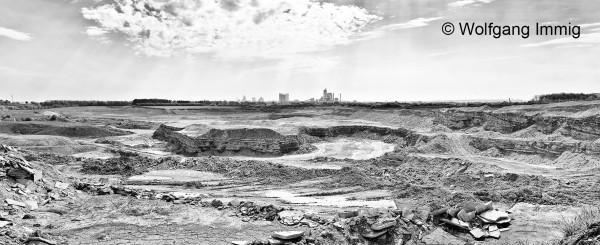 Fotodruck 150 x 190 cm - Motiv: Zementlandschaft - auf Alu-Verbundplatte